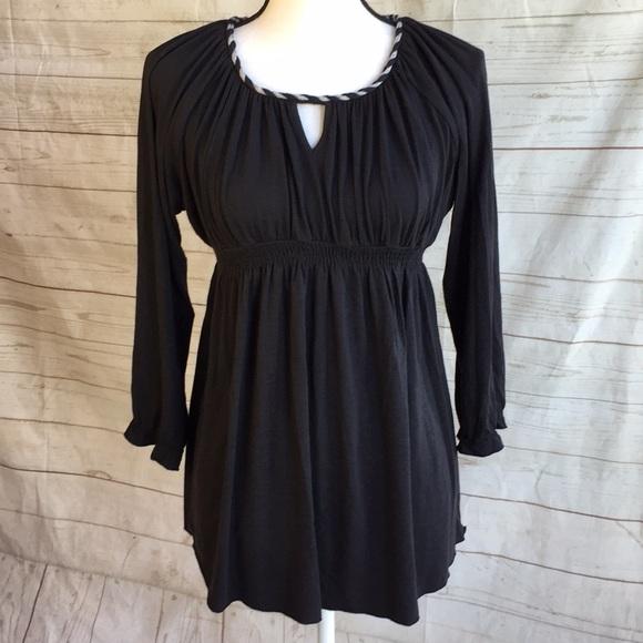 5b051e557f1a8 Everly Grey Tops   Black Knit Empire Waist Maternity Top Small ...